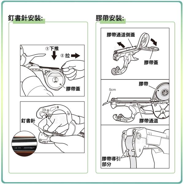 【綠藝家】藤類誘引結束機組合(型號HT-R)(含結束機(橘色) 、釘書針1盒、紅藍結束帶各1捲)