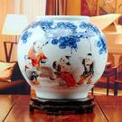 陶瓷器手繪花瓶 嬰戲圖...