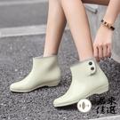 平底短筒雨鞋時尚雨靴防滑水靴防水可愛女雨...