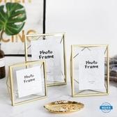 金屬相框【幾何金屬相框】北歐玻璃創意擺件照片裝飾畫框4 6 7寸