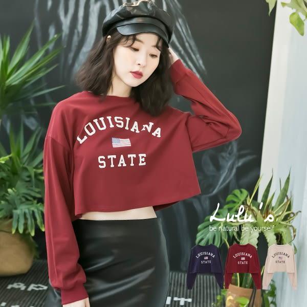 LULUS-E字母國旗短版上衣-3色  現+預【01017934】