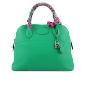 【HERMES】Togo皮 銀釦 Bolide 31cm (綠色) HE11000097