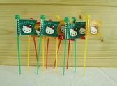 【震撼精品百貨】Hello Kitty 凱蒂貓~12入造型點心叉~旗子【共1款】