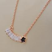 項鍊 純銀鍍18K金 鑲鑽吊墜-簡單復古生日情人節禮物女飾品73dn111【時尚巴黎】
