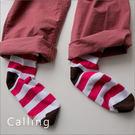 襪子 - 糖果跳色條紋點點俏女孩中筒襪 ...