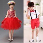 兒童表演服舞蹈女童公主紗裙蓬蓬裙