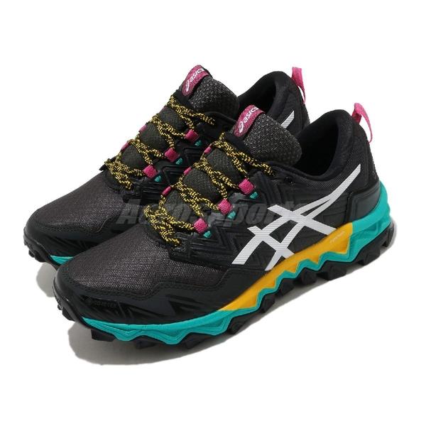 Asics 慢跑鞋 GEL-FujiTrabuco 8 GTX 黑 綠 女鞋 戶外 運動鞋 防水 【ACS】 1012A573003