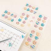 【ESTAPE】造型便利貼|條紋熊(120張/貼紙/memo/重覆黏貼)