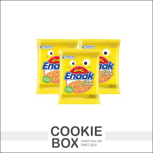 【即期品】韓國 Enaak 重量包 大雞麵 香脆點心麵 (單包) 30g 脆麵 小雞 點心麵 小雞麵 *餅乾盒子*