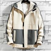 外套秋季新款男士夾克大口袋工裝外套男潮流春秋簡約休閒衣服男 阿卡娜