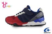 Moonstar 月星 Carrot HI系列 日本機能鞋 中童 後跟穩定慢跑鞋 運動鞋 I9671#紅藍◆OSOME奧森鞋業