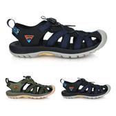LOTTO 男冒險者護趾運動涼鞋(反光 休閒 海邊 戲水 健走鞋 免運 ≡排汗專家≡