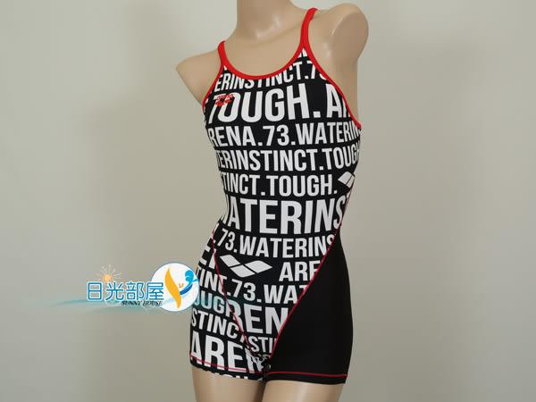 *日光部屋* arena (公司貨)/S6124W-BKWT 競泳款/耐穿/連身四角泳裝(M~XL/特價)