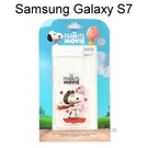 SNOOPY 史努比透明軟殼 [心心相印] Samsung G930FD Galaxy S7【台灣正版授權】