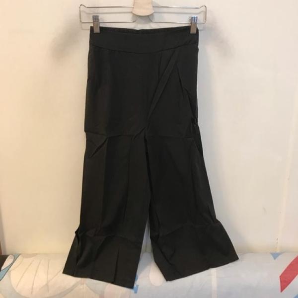 韓版百搭基本款高腰顯瘦寬褲(M號/222-6807)
