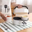 電熱飯盒 生活元素電熱飯盒陶瓷內膽迷你加熱飯盒可插電蒸煮保溫密封飯盒 怦然心動
