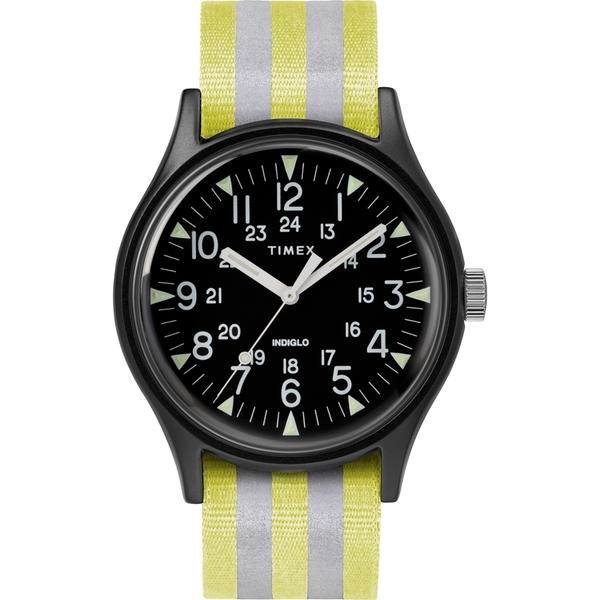 【TIMEX】天美時 MK1 潮流軍錶(黑面/銀黃條紋 TXTW2R81000)