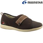日本【MOONSTAR】Pastel 405健康照護介護鞋 - 咖啡(4E超寬楦)