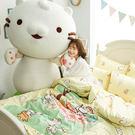 床包被套組 / 雙人【麻吉貓野餐派對米】含兩件枕套  100%精梳棉  戀家小舖台灣製AAL212