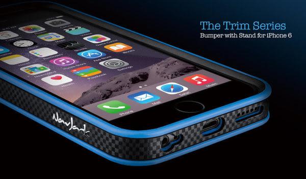 【愛瘋潮】Navjack APPLE iPhone 6 4.7 專用 Trim 系列 撞色可立式保護框 邊框