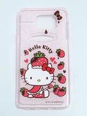 正版授權 HELLO KITTY Samsung GALAXY Note 5 軟式手機殼 閃粉系列 草莓帽