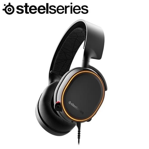 SteelSeries賽睿 Arctis 5 Black 有線電競耳機麥克風-黑色