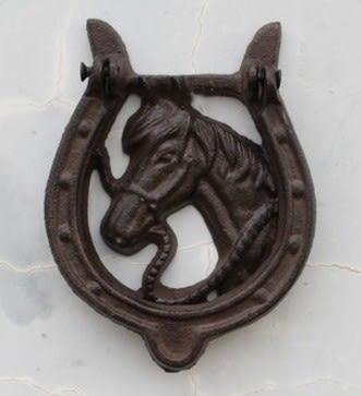 協貿國際鑄鐵庭院家居壁飾馬頭1入