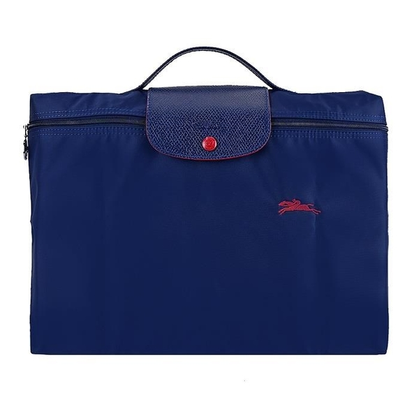 【南紡購物中心】LONGCHAMP LE PLIAGE CLUB系列刺繡手提公事包(海軍藍)