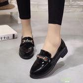 低跟鞋 小皮鞋女鞋子新款英倫時尚百搭低跟圓頭學生一腳蹬單鞋新年鉅惠