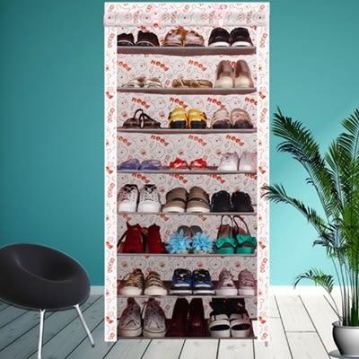 鞋櫃(八層)-簡易DIY防塵防潮帆布鞋架6色73fu10[時尚巴黎]