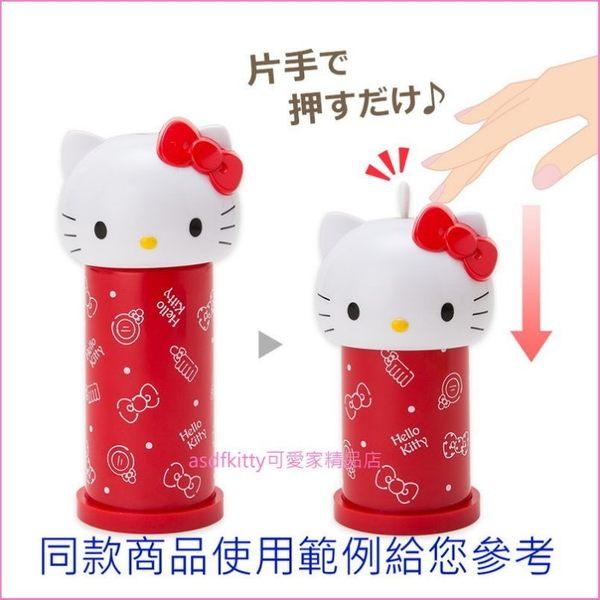 蛋黃哥造型彈跳式棉花棒罐(含10支棉花棒)-可當抽籤筒-抽幸運籤-當擺飾-日本正版商品