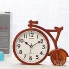擺鐘 鐘錶擺件家用個性創意客廳座鐘臺式時鐘桌面座式擺鐘臥室靜音臺鐘 京都3C