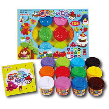 創意小麥黏土 12色 幼兒玩具 (音樂影片購)
