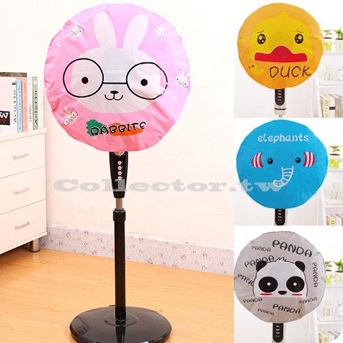 可愛卡通風扇罩 全包式圓形電扇防塵罩 電風扇防水罩