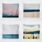 北歐風景背景布油畫風景臥室床頭客廳墻面裝飾掛布掛佈
