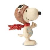 《Enesco精品雕塑》SNOOPY飛行員迷你塑像-Snoopy Flying Ace(Peanuts by Jim Shore)★funbox★_EN97321