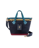PORTER -  LUXY 手提包 (S) - 芥末黃 / 深藍色