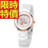 陶瓷錶-設計俏麗奢華女腕錶2色55j8[時尚巴黎]