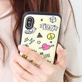 韓國 隨筆插畫 防摔掀蓋卡夾 手機殼│S7 Edge S8 S9 S10 Note5 Note8 Note9│z8486