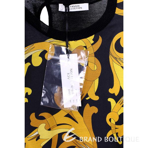 VERSACE 黑色拼接圖騰印花無袖上衣 1540220-29