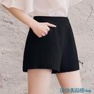 雪紡短褲女夏季薄款2020新款韓版百搭寬鬆高腰a字闊腿顯瘦西裝褲 快速出貨