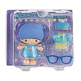 Sanrio 換裝娃娃組 擺飾玩偶 公仔 雙子星 KIKI 睡衣 紫_261475N