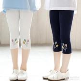 女童七分打底褲外穿夏季薄款褲子白色夏裝寶寶小女孩兒童安全短褲