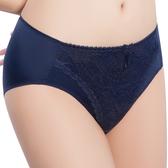 思薇爾-透輕涼系列M-XXL蕾絲中腰三角內褲(映池藍)