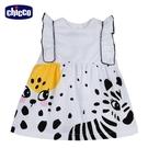 chicco-斑斑動物-斑馬印圖荷葉剪接洋裝