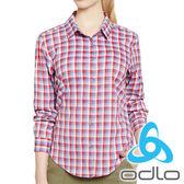 ODLO 女 銀離子彈性襯衫『紅格』525891 瑞士 銀離子 F-DRY快乾布 抗菌除臭 涼爽不悶熱