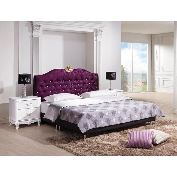 OB004-溫妮莎紫色絨布5尺床頭片(19HY2/B013-01)【DD House】