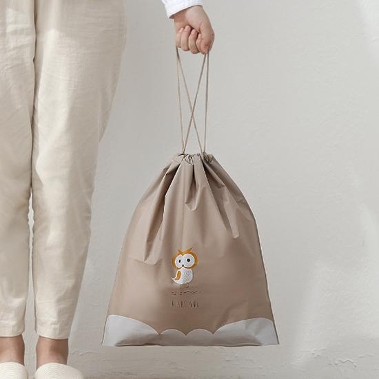 束口袋 密封袋 抽繩袋 整理袋 旅行 鞋袋 行李箱 收納 分類袋 洗漱 抽繩收納袋 (中)【A007】慢思行