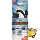 【影音相關】PX大通 HDMI to DVI 1.2M傳輸線 (HDMI-1.2MMD)