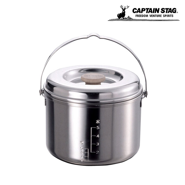 Captain Stag 日本鹿牌 三層鋼飯鍋(小) M-8610 / 城市綠洲 (露營.野營.3層鋼5層結構.炊具)